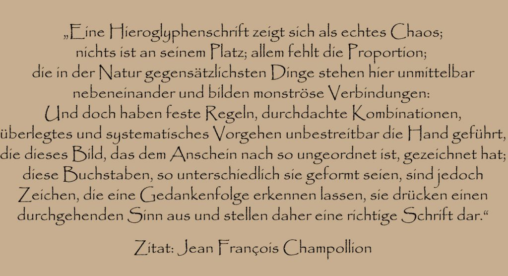 Jean Francois Champollion Zitat